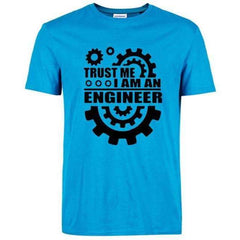 FluxClothings: Trust Me I Am An Engineer T-Shirt,Sky Blue/Black / S