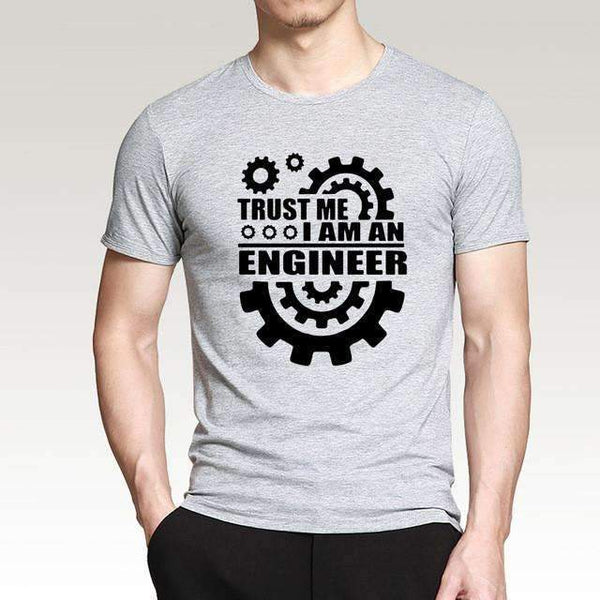 FluxClothings: Trust Me I Am An Engineer T-Shirt,Gray/Black / S