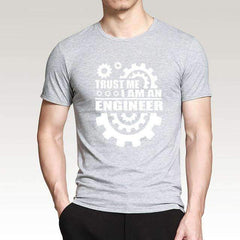FluxClothings: Trust Me I Am An Engineer T-Shirt,Gray/White / S