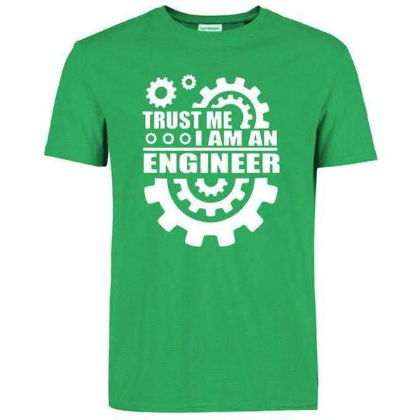 FluxClothings: Trust Me I Am An Engineer T-Shirt,Green/White / S