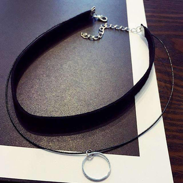 FluxClothings: 90's Choker Necklace,Ring