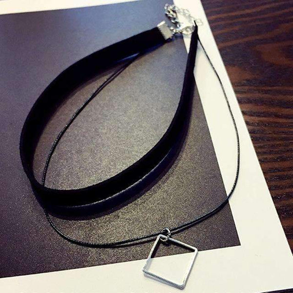 FluxClothings: 90's Choker Necklace,Square
