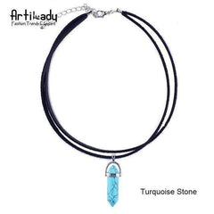 Moon Stone choker necklace - FluxClothings