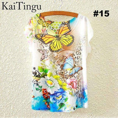 FluxClothings: Women's Graphic Printed T-Shirts,#15 / One Size
