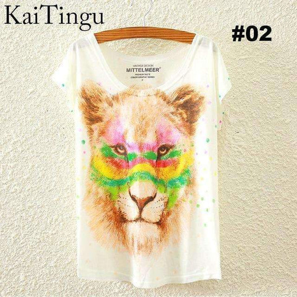 FluxClothings: Women's Graphic Printed T-Shirts,#02 / One Size