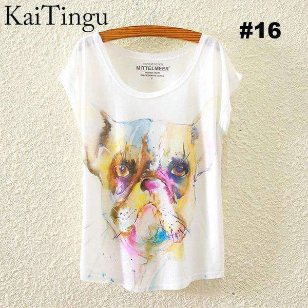 FluxClothings: Women's Graphic Printed T-Shirts,#16 / One Size