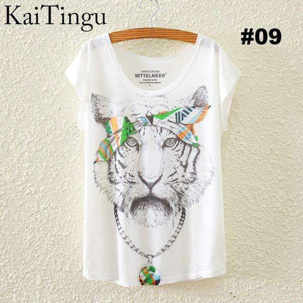 FluxClothings: Women's Graphic Printed T-Shirts,#09 / One Size