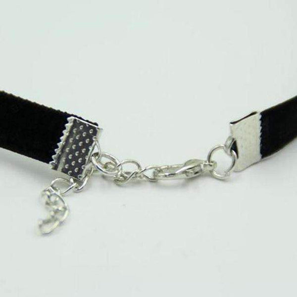 Vintage Retro Black Velvet Choker - FluxClothings