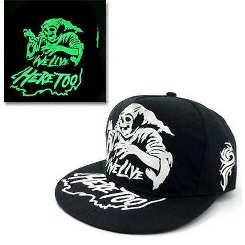 FluxClothings: Glow In The Dark Snapbacks,Witch (Green)