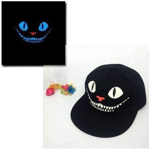 FluxClothings: Glow In The Dark Snapbacks,Cheshire Cat (Blue)