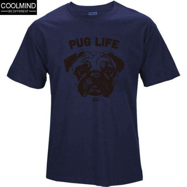 FluxClothings: cotton casual pug life mens t shirts top quality fashion short sleeve men tshirt men's tee shirts tops men T-shirt 2017 T01,NAV2 / XS