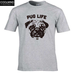 FluxClothings: cotton casual pug life mens t shirts top quality fashion short sleeve men tshirt men's tee shirts tops men T-shirt 2017 T01,GREY / XS
