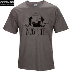 FluxClothings: cotton casual pug life mens t shirts top quality fashion short sleeve men tshirt men's tee shirts tops men T-shirt 2017 T01,TS 3 / XS
