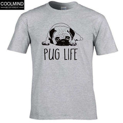FluxClothings: cotton casual pug life mens t shirts top quality fashion short sleeve men tshirt men's tee shirts tops men T-shirt 2017 T01,GREY 2 / XS
