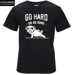 FluxClothings: cotton casual pug life mens t shirts top quality fashion short sleeve men tshirt men's tee shirts tops men T-shirt 2017 T01,BLK / XS