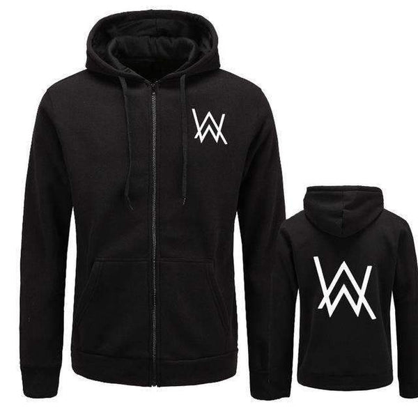 FluxClothings: Alan Walker Hip Hop Hoodie Jacket,black / M