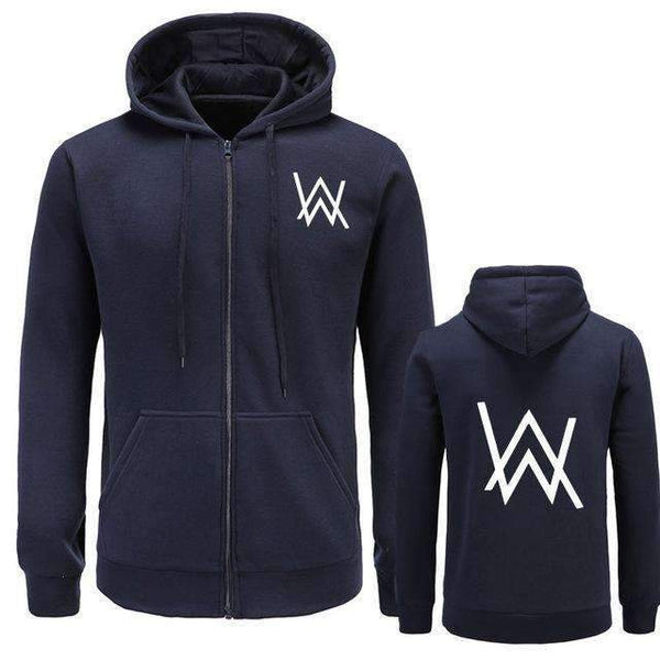 FluxClothings: Alan Walker Hip Hop Hoodie Jacket,navy / M