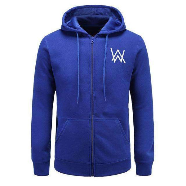FluxClothings: Alan Walker Hip Hop Hoodie Jacket,blue / M