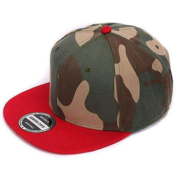 FluxClothings: Camouflage Snapback,Red camo