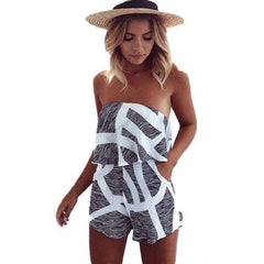 Women Lace Strapless Romper