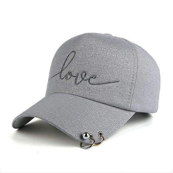 FluxClothings: Love Fitted Hat,Grey