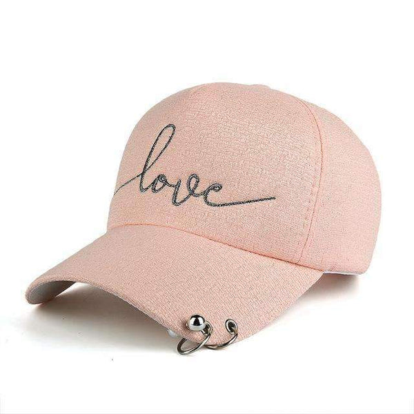 FluxClothings: Love Fitted Hat,Pink