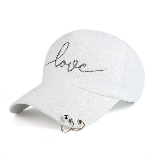 FluxClothings: Love Fitted Hat,White