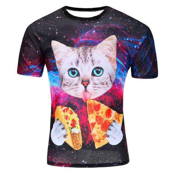 FluxClothings: 2016 New arrivals brand clothing 3D Printed Thundercat T-Shirt fearless kitty cat playing with lightning t shirts,Figure color 2 / M