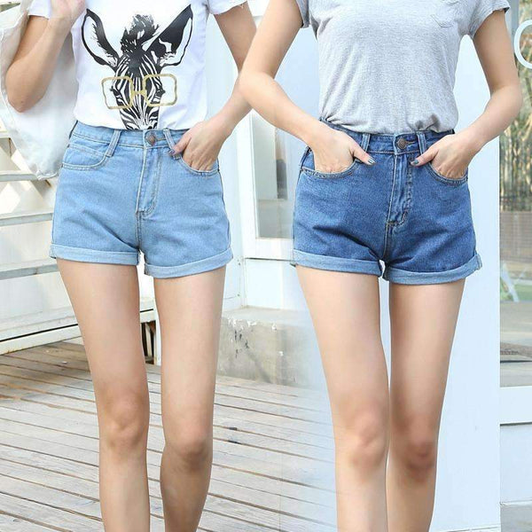 FluxClothings: High Waist Denim Shorts