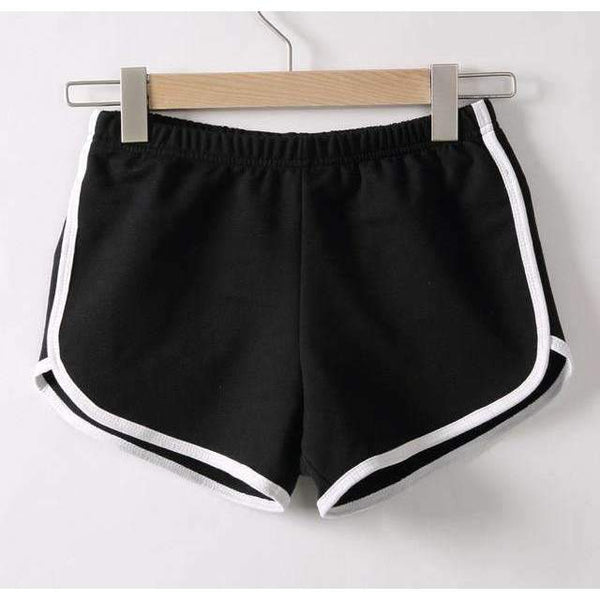 FluxClothings: Casual Fitness Shorts,Black / S