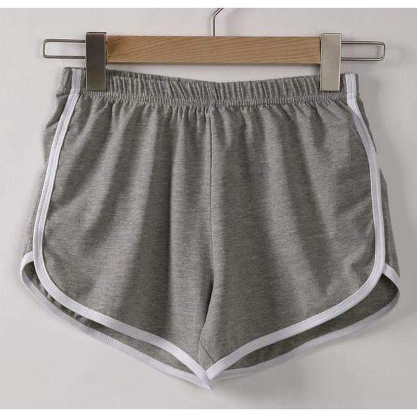 FluxClothings: Casual Fitness Shorts,Gray / S