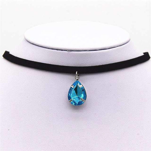 Water Droplet Choker Necklace - FluxClothings