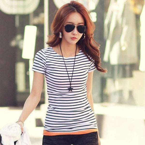 Women Stripes T-Shirt - FluxClothings