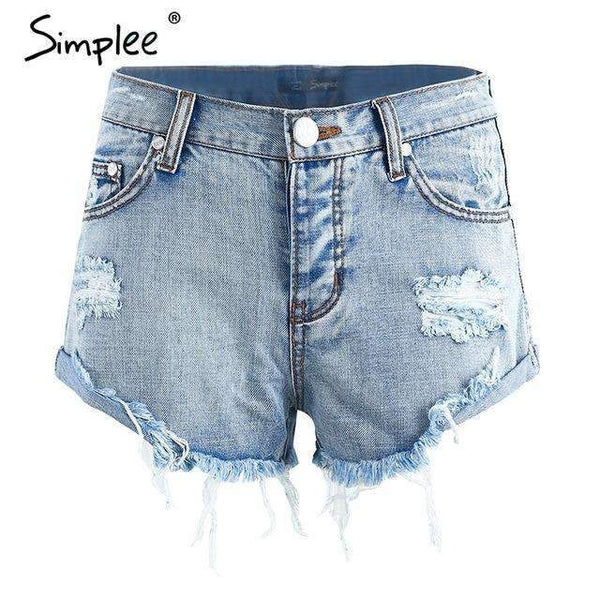 Vintage Ripped Denim Shorts