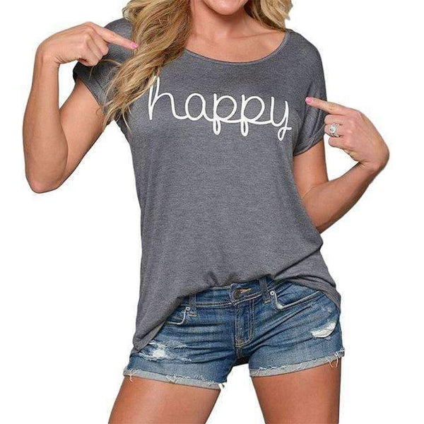 Happy T-Shirt - FluxClothings