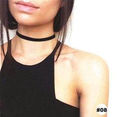Retro Black Velvet Choker Necklace