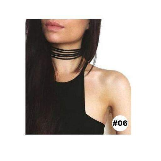 Retro Black Velvet Choker Necklace - FluxClothings