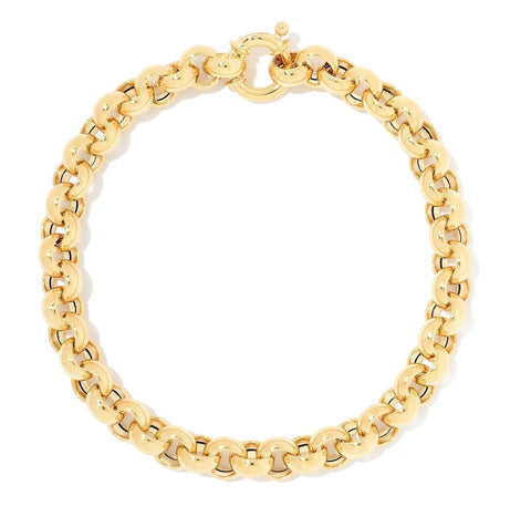 Solid Yellow Gold Chain Bracelet