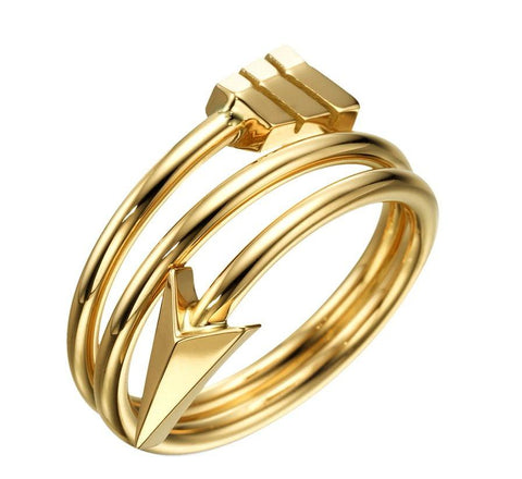 Men's Gold Arrow RIng