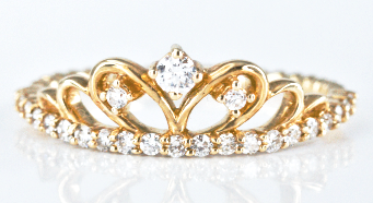 Princess Eternity Diamond studded Yellow Gold Ring
