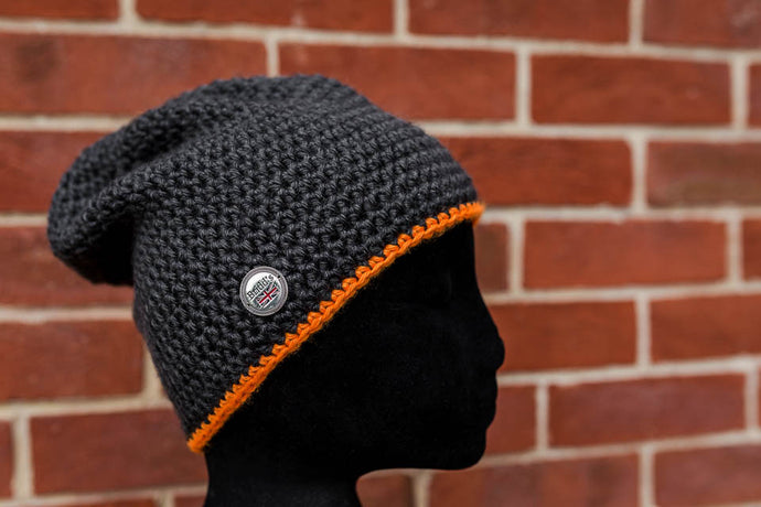Charcoal Grey and Bright Orange
