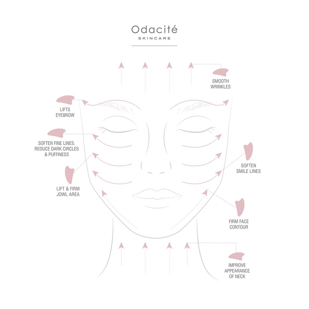 CRYSTAL CONTOUR GUA SHA - ROSE QUARTZ