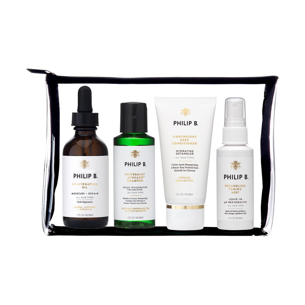 FOUR-STEP HAIR & SCALP TREATMENT TRAVEL SET - PARABEN FREE FORMULA