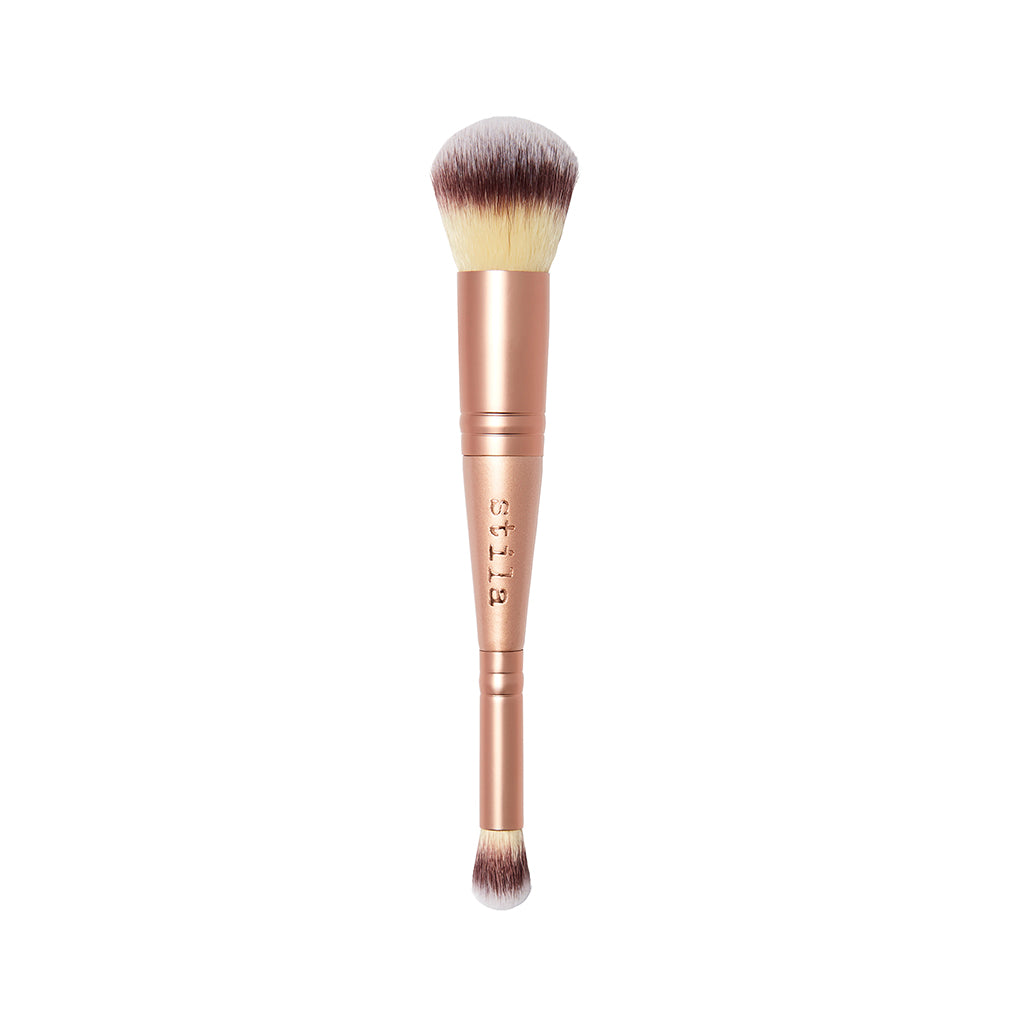 DUAL-ENDED FOUNDATION & CONCEALER BRUSH