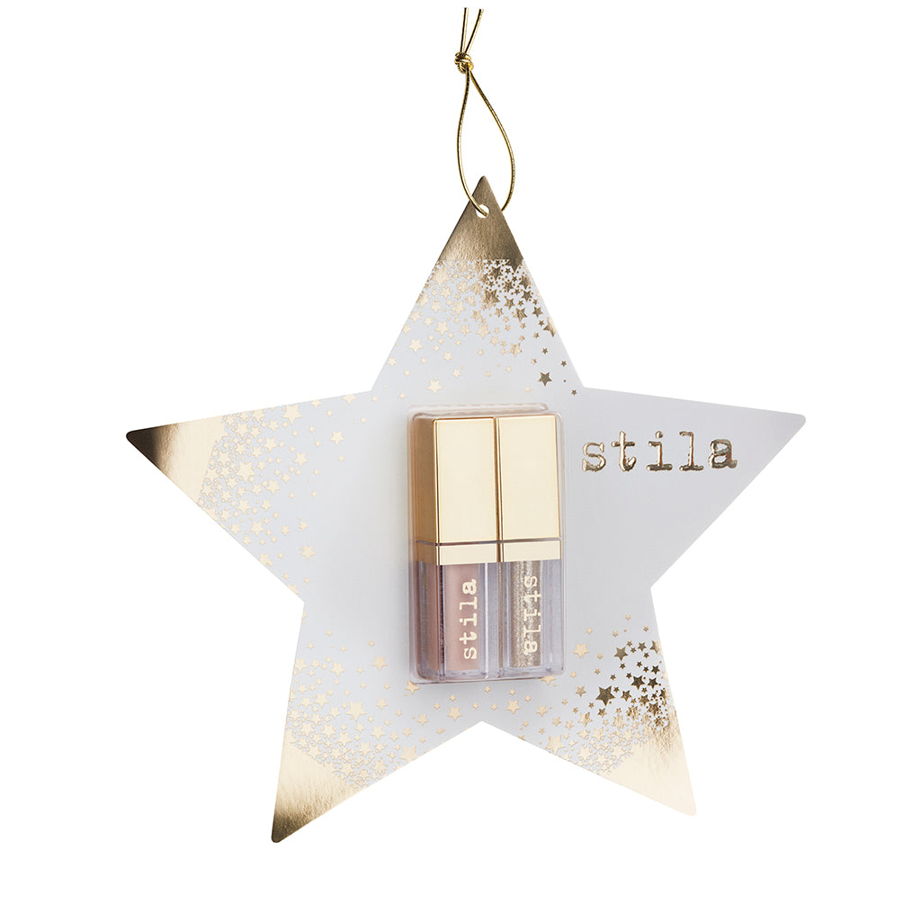 STILA DOUBLE DIP - SUEDE SHADE AND GLITTER & GLOW LIQUID EYE SHADOWS