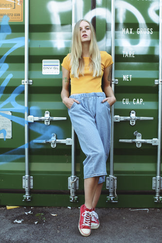 Real Talk denim culottes - Non Existent The Label
