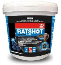 iO Ratshot Blocks 250gm BLUE Difenacoum