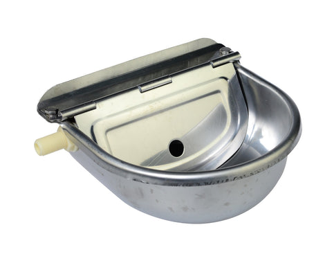 Stainless steel drinking trough