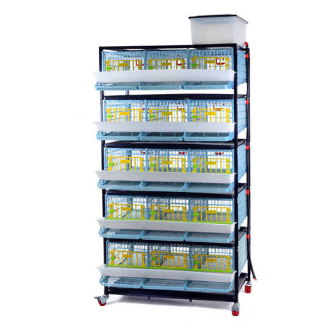 Comfortplast quail cage - 5 tier - COMING SOON! Please register your interest as we'll have limited stock!