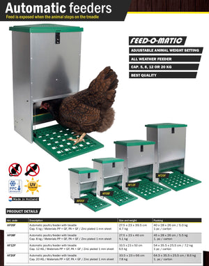 Feed-O-Matic Automatic poultry feeder - 5kg